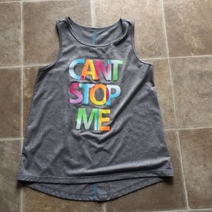 Can't stop me gray Athletic tank top